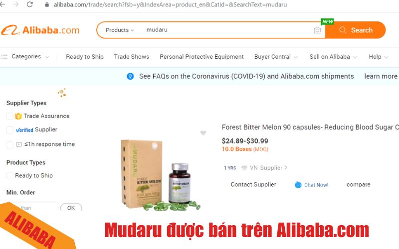 mudaru duoc ban tren san Alibaba